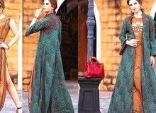 فستان من نسيج رايون ناعم مع بطانة مزدوجة مع بطانة داخلية