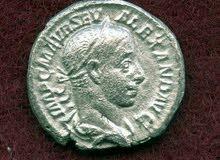 عملة رومانية فضة للحاكم الروماني (كاراكالا) ابن الامبراطور (سبتيموس سيفيروس)