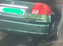 هوندا سيفيك للبيع 2001 فحص لون اخضر والبيع دون الرقم