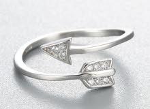 خاتم نسائي فضة 925