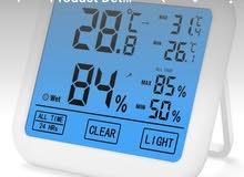 مقياس درجة حرارة ورطوبه الكتروني دقة عالية