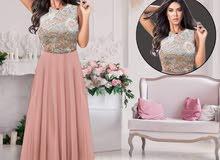 فستان شيفون مع برق