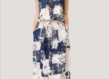 women plus size dress,Oneck ,shoulders splash ink,long dress on sale