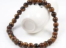 Natural Stone 6/8/10mm Beads Tiger Eye Bracelet Classic Men Women Buddha Black L