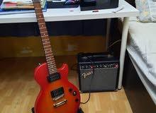 قيتار الكتروني و سماعه  electric guitar with amp