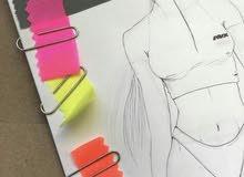 Drawing new fashion designs