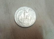 عملة قديمة ربع دولار 1966