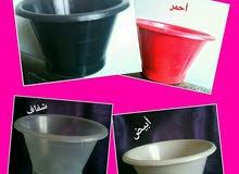 للبيع ويالجملة سطل او جردل بلاستيك سعة 1 كيلو للتمور والخضار وغيره