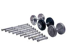 Weight plates dumbbells bar for lifting and bodybuilding fitness bench exercises equipment