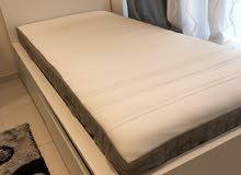 Ikea single bed with matress and small lkea wardrobe