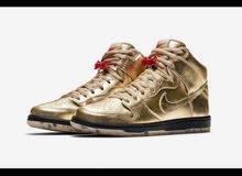 Nike skate shoes - Gold   حذاء رجالي الأصلي جديد