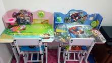 طاولة دراسة للاطفال عدد 2 للبيع