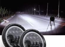 ليتات اماميه LED  بأشكاال مميزه لجيب رانجلر وبعض السيارات