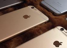 اجهزة ايفون 6 16+64 ذهبي ولون الاسود