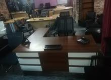 مكتب مدير مع 3 كراسي جلد