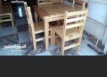 طاولات وكراسي كافيهات ومقاهي خشب صلد وطاولات