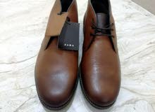 ZARA أصلي 100% جلد طبيعي صناعة البرتغال / مقاس 41