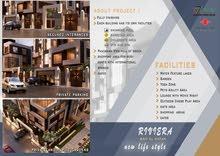 شقة 110م بموقعها المتميز بالقاهره الجديده .