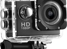 Sport Full HD 1080p Action Camera 30 Meters WaterProof 2 Inch Screen, 120 Degree Wide Angle, Black