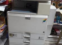 ماكينة تصوير  Ricoh mp c4500 بحالة جيدة للبيع