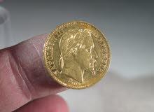 عمله نابليون الإمبراطور الثالث ذهبيه عام 1869.... 20 فرنك فرنسي