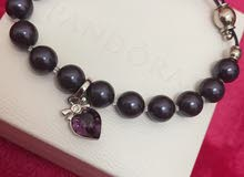 Natural stone beaded bracelet with Amethyst heart stone