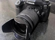 للبيع كاميرا كانون 80d مع عدسة 18_55 وبتريين وسعر 250 دينار وقابل للتفاوض وللتوا