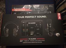M-Audio كرت صوت و مايك كوندينسر و سماعات