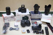 canon 600d for sale with 5 lenses