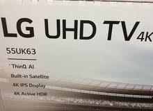 شاشة LG 55 6300  SMART 4K UHD  هدية رسيفر HD  بسعر مغري