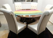 طاولة سفرة  6 كراسي جديدة للبيع