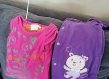 ملابس جهاز بيبي بناتي مستعمل من عمر مولود لسنه