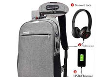 19e7e33e9b77f Men s 3 in 1 USB Charge Anti-theft Backpack   حقيبة ظهر للرجال 3 في