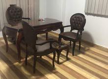 مكتب خشب زان مطعم بنحاس وكراسي زان