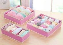 منظم ثلاثي للجوارب والملابس الخفيفة 3 بوكسات ألوان وأشكال نسائي ورجالي الثلاث بو