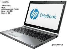 core i7_ HP EliteBook 8570 p جيل تالت _ رامات 8 جيجا _هارد 320 جيجا