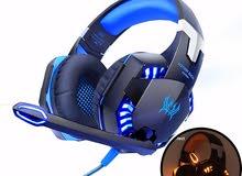 سماعات مع التوصيل مجانا  جي2000 المحيطية لألعاب و الكمبيوتر و الهواتف وDJ