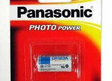 Panasonic CR123 3V بطاريةباناسونيك