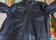 Black leather jacket..new.. 2XL