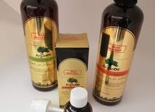 للبيع مجموعة الارغان المغربي (شامبو وبلسم وسيروم) للعناية الفائقة بالشعر.