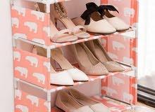 رف تخزين للأحذية - متعدد الطبقات متوفر لونين وانواع مختلفه
