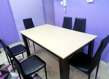Dining table and 6 chairs (Bought from Banta)