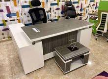 مكتب مدير خشبmdf مستورد 180سم +سايد جانبي بوحدة ادراج