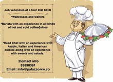 four star hotel looking for  waiters