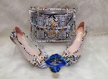جنطة +حذاء شفاف تركي درجة اولى
