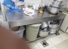 ادوات مطعم كامله للطبخ ومقالي للبيع ومعالق