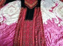 ثوب فلسطيني تراث أصلي تطريز يدوي بالضفه .
