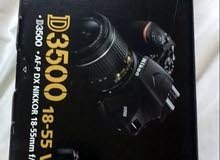 كاميرا نيكون 3500d  لببيع جديده