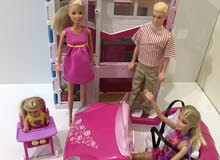 Barbie doll family and house