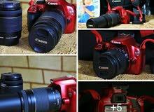 كاميرا كانون شبه جديد 1200D مع عدستين وشاحن وشنطه وكاتلوجاتها